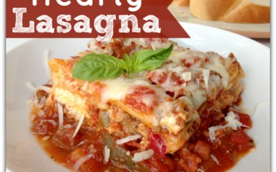 Hearty Lasagna Recipe With Sausage & Peppers