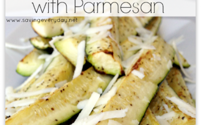 Oven Roasted Zucchini with Parmesan