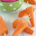 Carrot Shaped Rice Krispie Treats for Easter