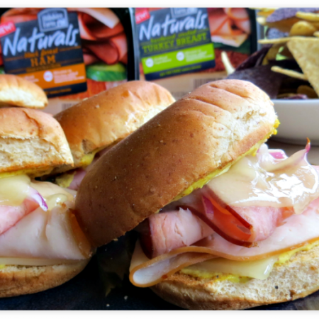 Cordon Bleu Turkey Sliders with Hillshire Farm Naturals™ lunchmeat