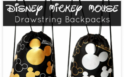 Disney Mickey Mouse Drawstring Backpacks!