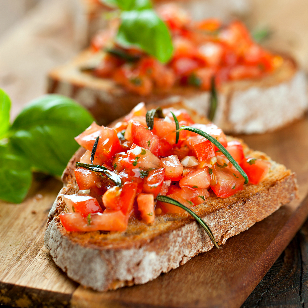 Easy Italian Bruschetta Recipe With Tomato And Basil