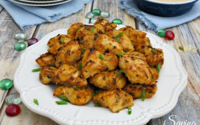 Sweet & Spicy Chicken Bites with Dairy-Free Yogurt Sauce