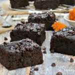 Extra Fudgy Flourless Pumpkin Brownies
