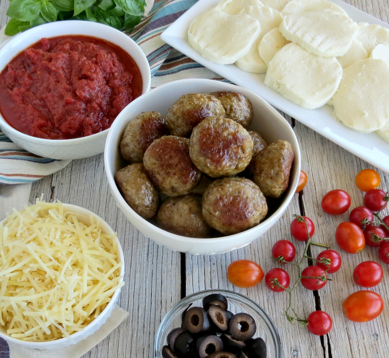 Meatball Pizza Recipe Ingredients