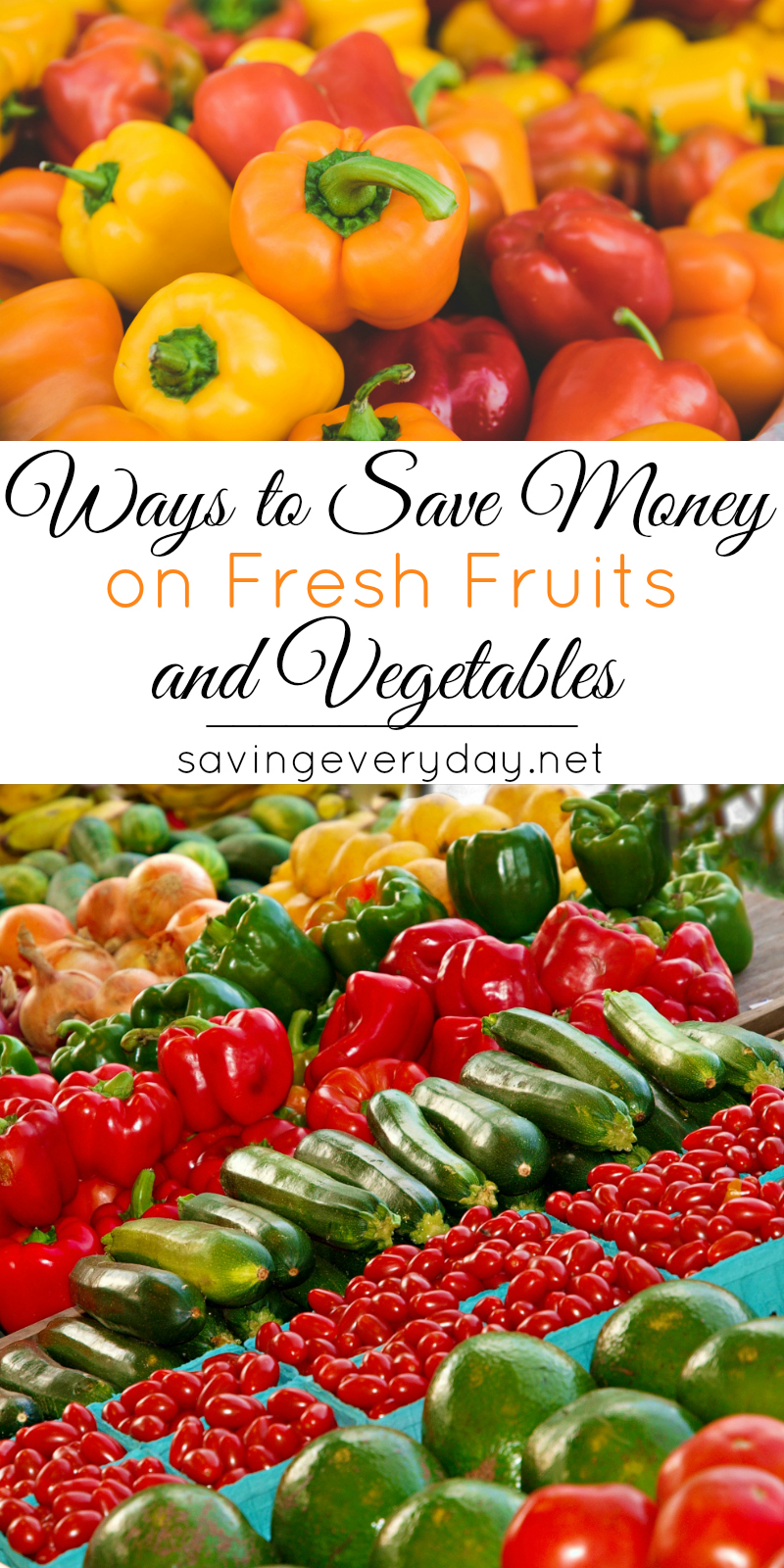 save money on fruits and vegetables