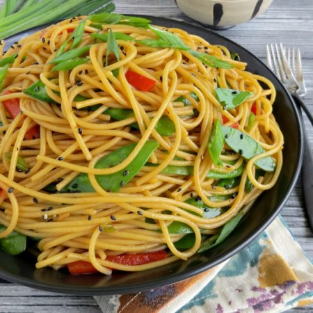 20-Minute Simple Sesame Spaghetti | Gluten Free