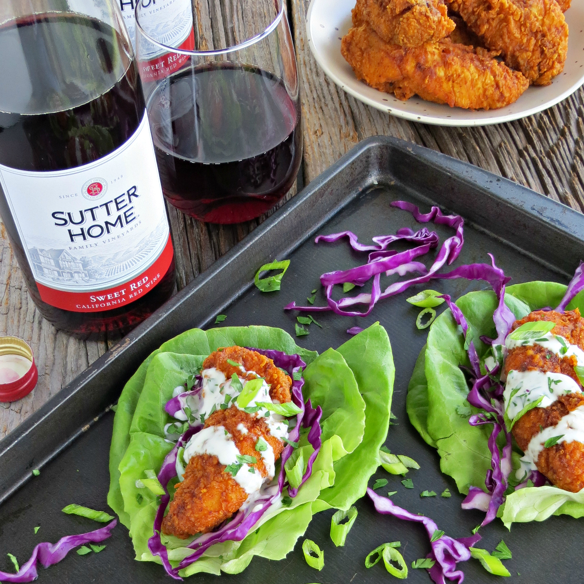 Hot Chicken Tacos Sutter Home Sweet Red