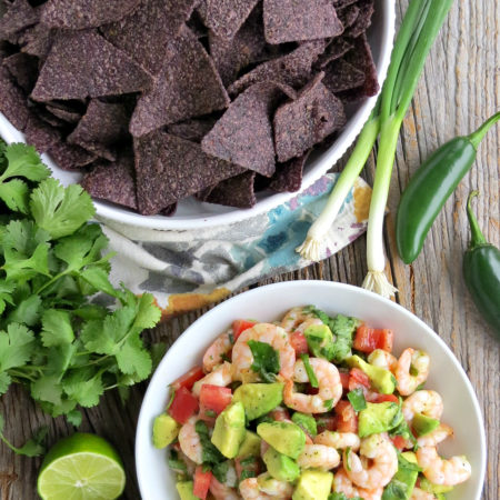 Cold Shrimp Salad with Avocado and Lime Dressing