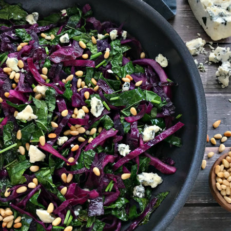 Warm Red Cabbage Coleslaw