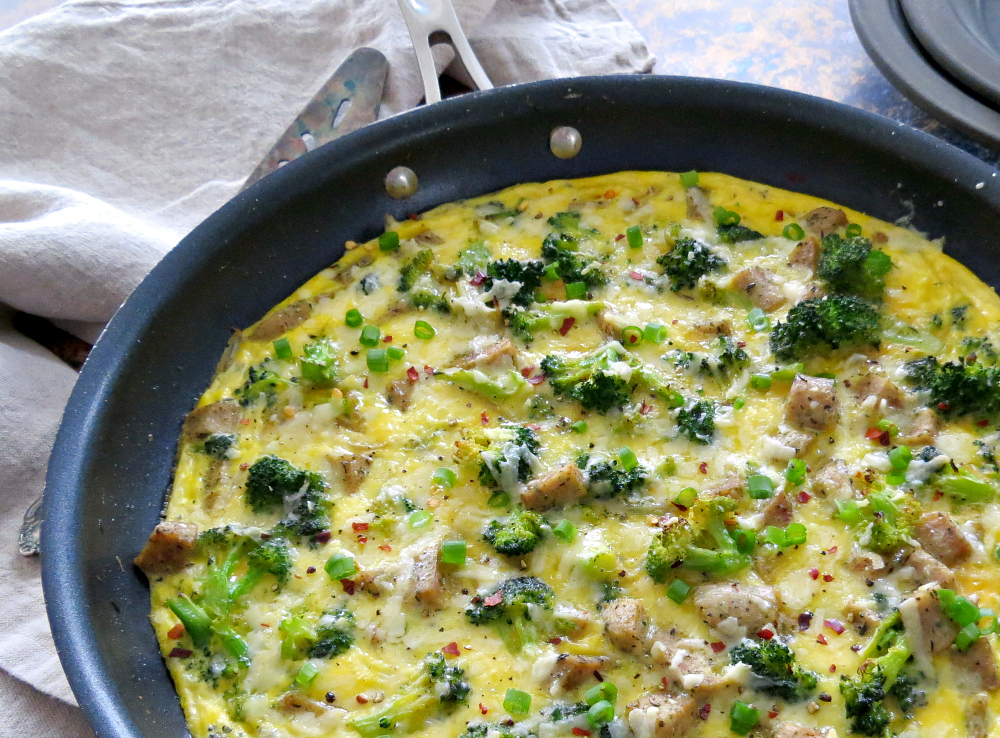 Vegetable Frittata Recipe with Broccoli and Sausage