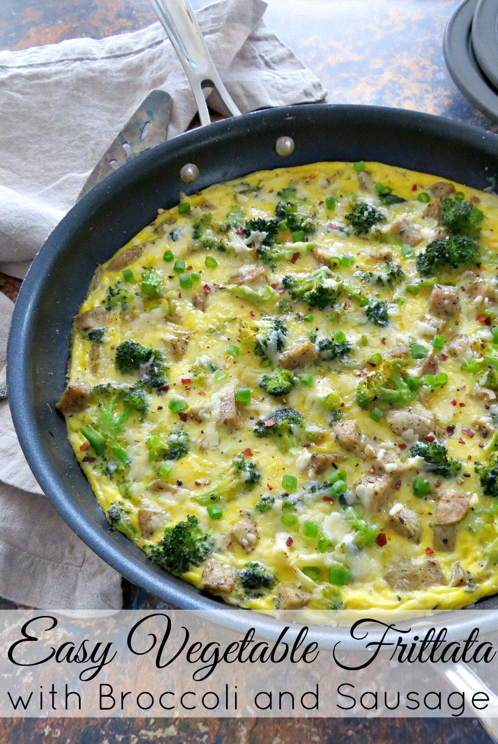 Vegetable Frittata with Broccoli and Sausage