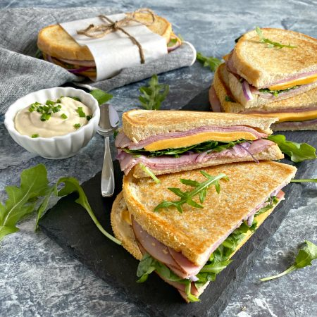 Ham Cheese Pressed Sandwiches